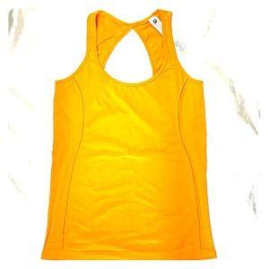 Orange fabletics fitted tank top